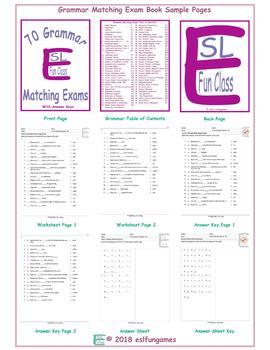 70 Grammar Matching Exam Book