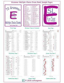 70 Grammar Multiple Choice Exam Book