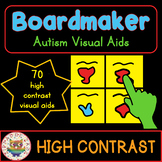70 High Contrast Visual Aids Bundle Boardmaker PECS for Autism Visual Impairment
