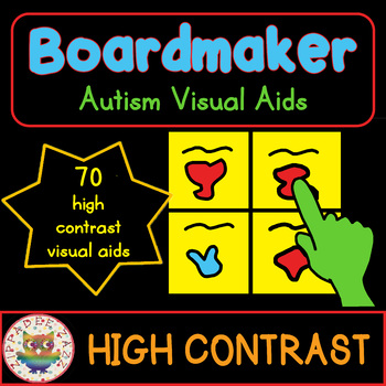 #apr2018slpmusthave 70 High Contrast Visual Aids Bundle for Autism SPED