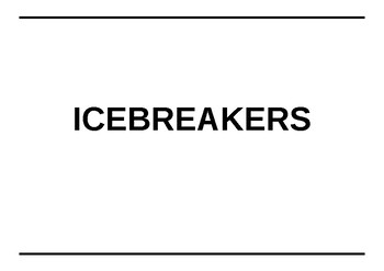 70 Icebreakers and Team Building Excercises