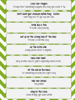 70 Idioms and their Definition- ESL/IESL