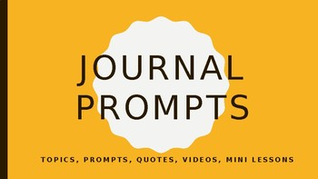 70 Journal Prompts Ready to Present!