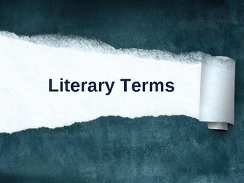 70 Literary Terms PowerPoint