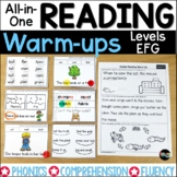 Guided Reading Levels EFG | Distance Learning