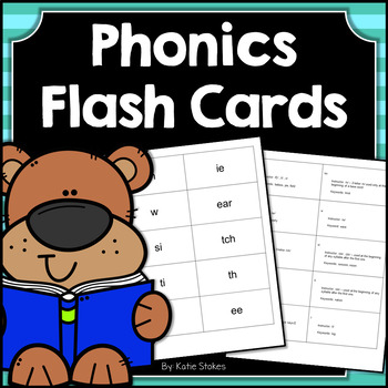 70 Phonics Flashcards - Student Practice Cards
