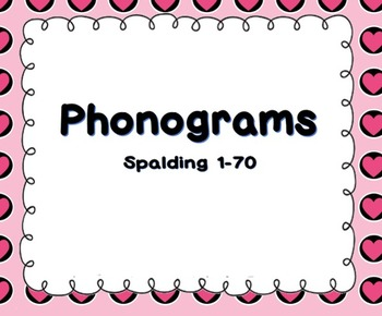 70 Phonograms Review Notebook