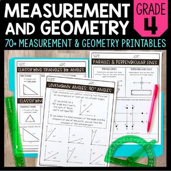 Measurement & Geometry Printables (CCSS Aligned)