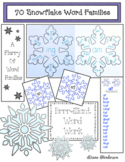 Winter Word Work 70 Snowflake Word Families