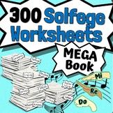 250 Solfege Worksheets - Tests Quizzes Homework Reviews or