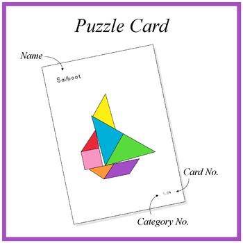 Tangram: 70 Shapes - The new Classic Collection 1 - Puzzle Cards