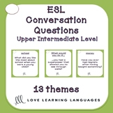 70 Upper-intermediate ESL - ELL conversation starter and s