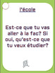 70 Upper-intermediate French conversation starter and speaking prompt cards
