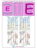 70 Vocabulary Alphabetical Order Worksheet Book