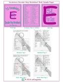 70 Vocabulary Decoder Ring Worksheet Book