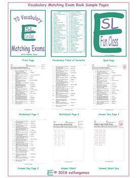 70 Vocabulary Matching Exam Book
