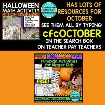 50% off LIMITED TIME PRICE! OCTOBER BUNDLE -9 POPULAR Halloween & Fall RESOURCES