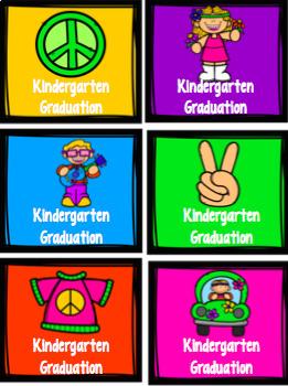 70's Themed Kindergarten Graduation Decor