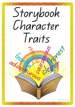 70 x Storybook Character Traits Vocabulary Cards - ZIP FIL