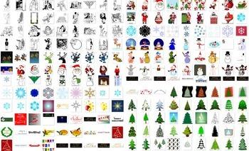 700+ christmas art decorations, presents, printables, reindeer, santas, snowmen,