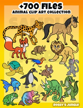 700 files Animal Clip art collection ULTRA bundle
