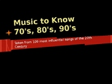 70s, 80s, 90s Influential Music