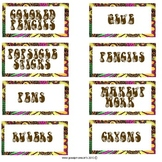 70's Classroom Lable Set Bundle