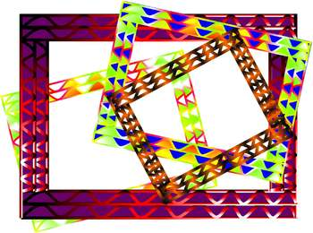 70's Psychedelic Hippy Borders and Background graphics - Commercial Use