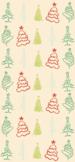 70s Retro Christmas Tree Cellphone Wallpaper Background