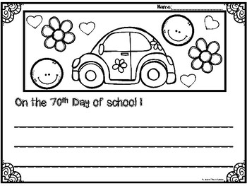70th Day of School packet