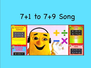 """7+1 to 7+9 mp4 Song Video from """"Addition Songs"""" by Kathy T"""