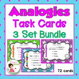 72 Analogy Task Cards with 3 Free Bonus Quizzes