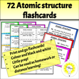 72 Atomic structure flashcards (Science/chemistry)