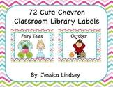 72 Chevron Classroom Library Labels