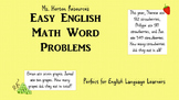 72 Math Word Problems (EAL/ESL Friendly)