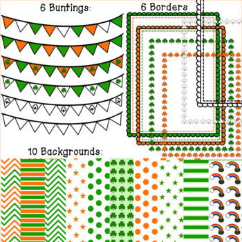 72 Pc Saint Patrick's Day All-You-Need Clipart set. $2 DEAL: LIMITED TIME!