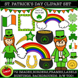 72 Pc Saint Patrick's Day All-You-Need Clipart set. St Patrick's clipart