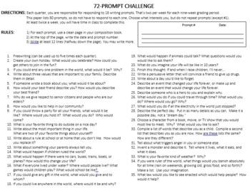 72-Prompt Challenge