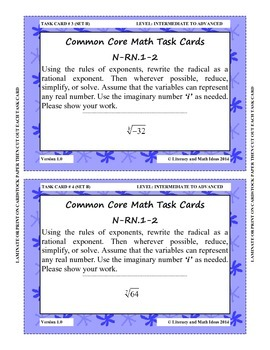 72 Radicals Task Cards (Set 2)