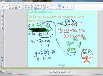 7.2 Solving Linear Systems using Substitution
