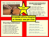 72 WARM UPS- English & Literacy, Grammar, Punctuation, Wor