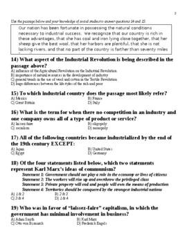 UNIT 10 LESSON 12. World History Unit 10 TEST