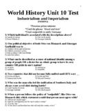 WORLD UNIT 10 LESSON 12. World History Unit 10 TEST