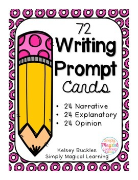 72 Writing Prompt Cards
