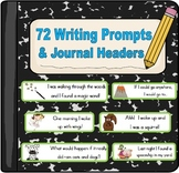 Writing Prompts and Journal Headers