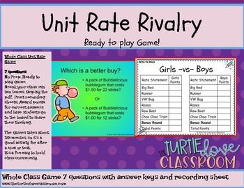 7.2 d Unit Rate Power Point 7th grade Math