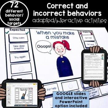72 expected & unexpected behaviors interactive adapted activities. Autism