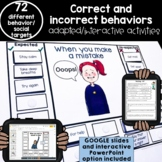 Expected and unexpected behaviors activities | adapted printables and digital