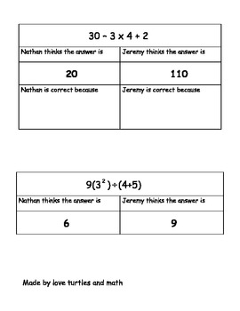 7.2e Order of Operations for 7th grade math students