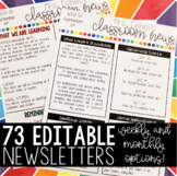 73 Editable Weekly and Monthly Newsletter Templates